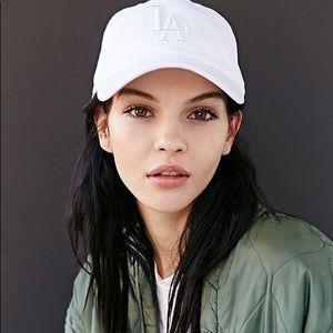 White LA dodgers hat